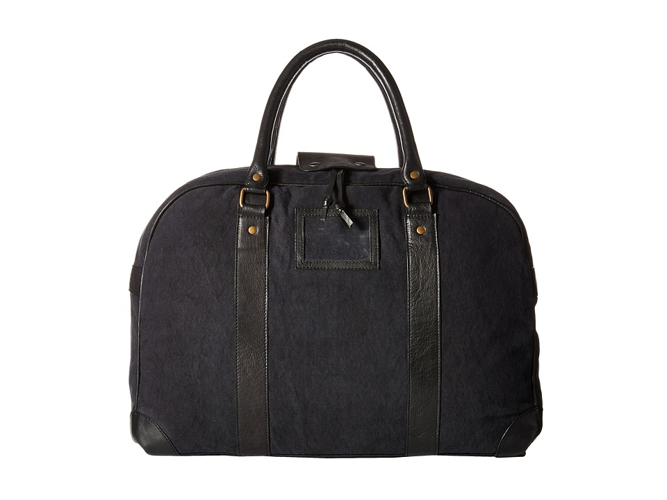 Scotch & Soda - Canvas Travel Bag with Leather Details (Black) Bags