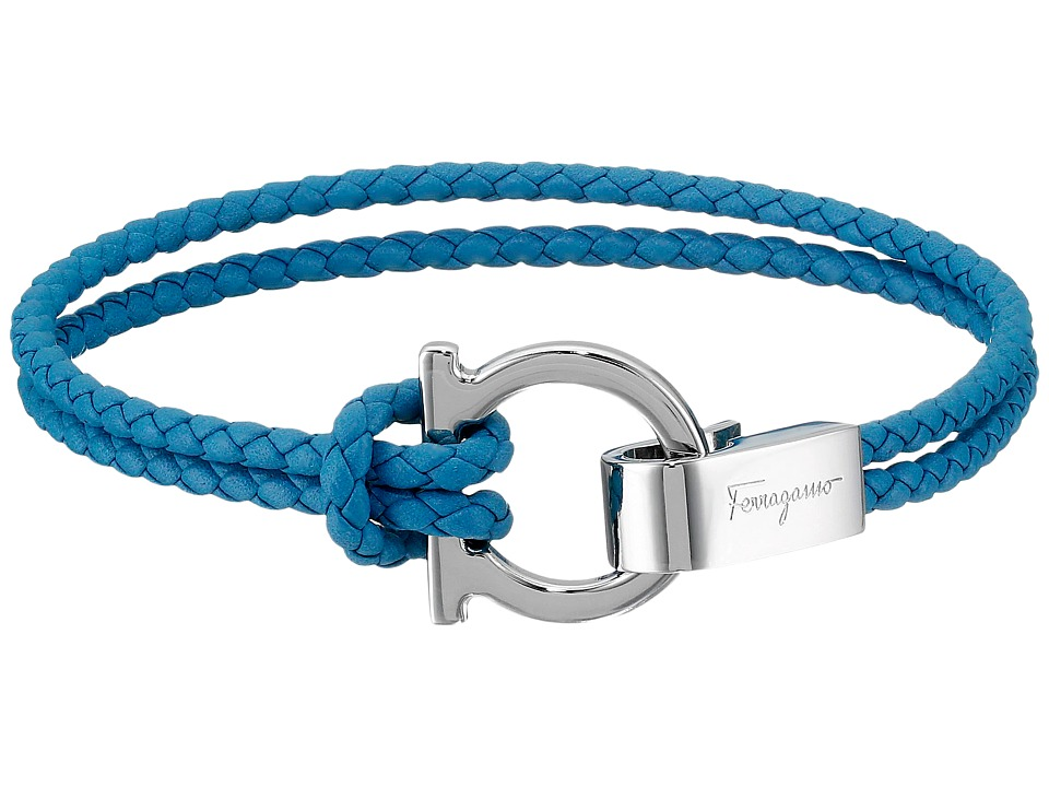 Salvatore Ferragamo Gancini Hook Closure Bracelet Saxony Blue Bracelet