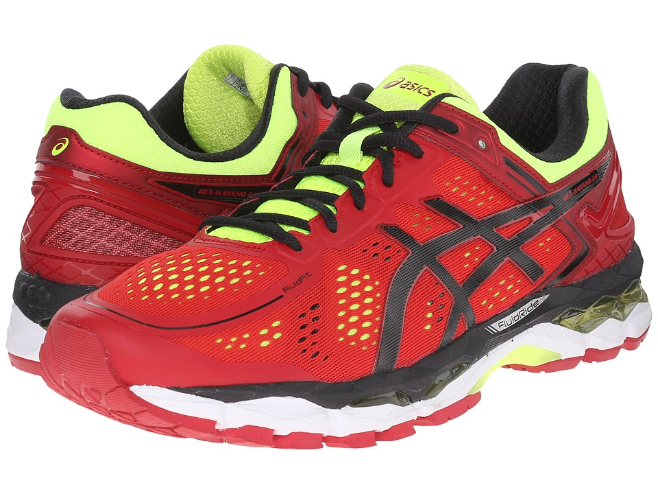 ASICS - GEL-Kayano 22 (Red Pepper/Black/Flash Yellow) Men