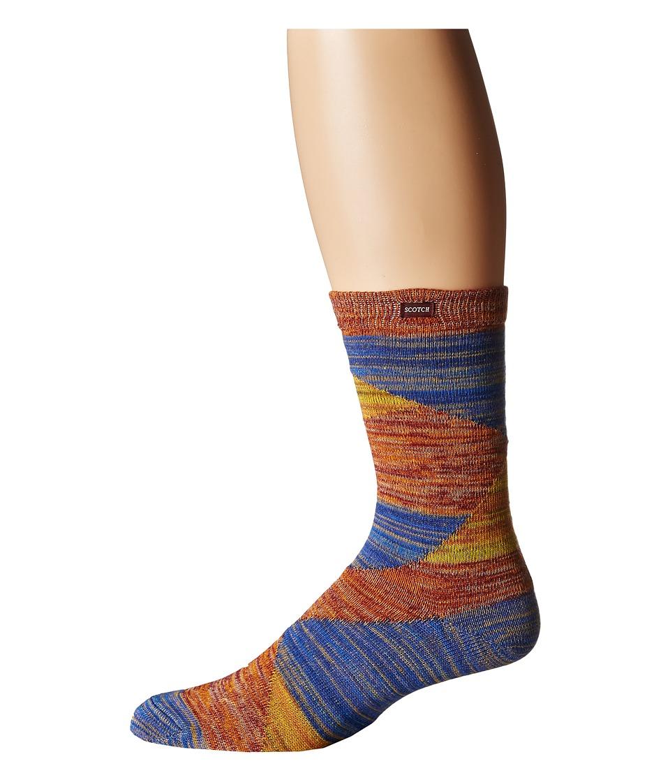 Scotch amp Soda Patterned Chunky Sock in Melange Multi Mens Crew Cut Socks Shoes