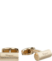 Salvatore Ferragamo - Gancini Textured Bar Cufflinks
