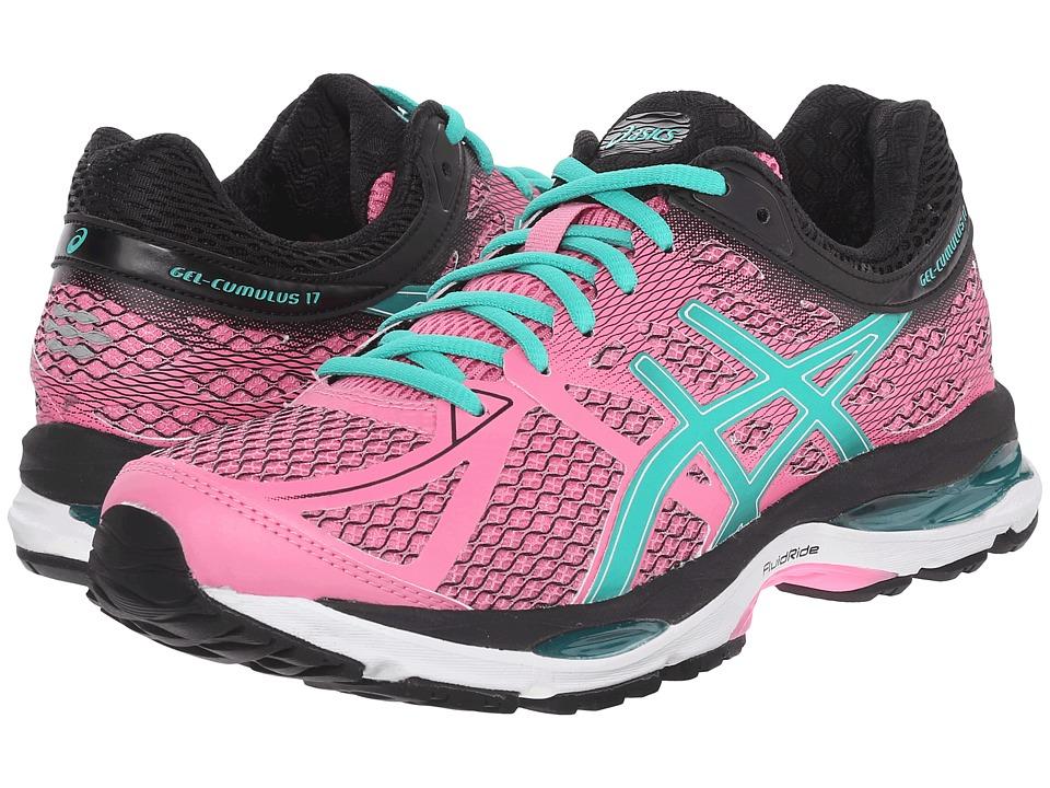 ASICS Gel Cumulus 17 Flamingo/Green/Black Womens Running Shoes