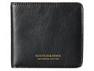 Scotch & Soda Leather Wallet with Zip and Pocket (Black)