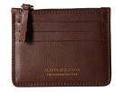 Scotch & Soda Leather Credit Card Holder with Zip (Brown)