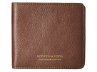 Scotch & Soda Leather Wallet with Zip and Pocket (Brown)
