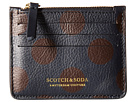 Scotch & Soda Leather Credit Card Holder with Zip (Black/Brown)