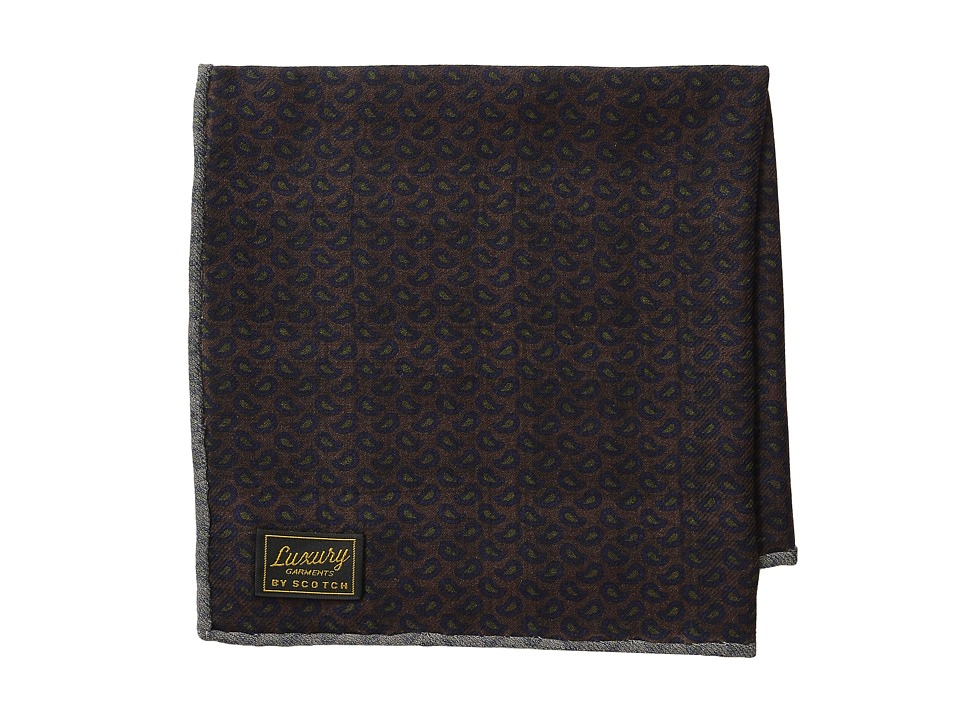 Scotch amp Soda 2 Side Printed Woolen Hankerchief Multi Scarves