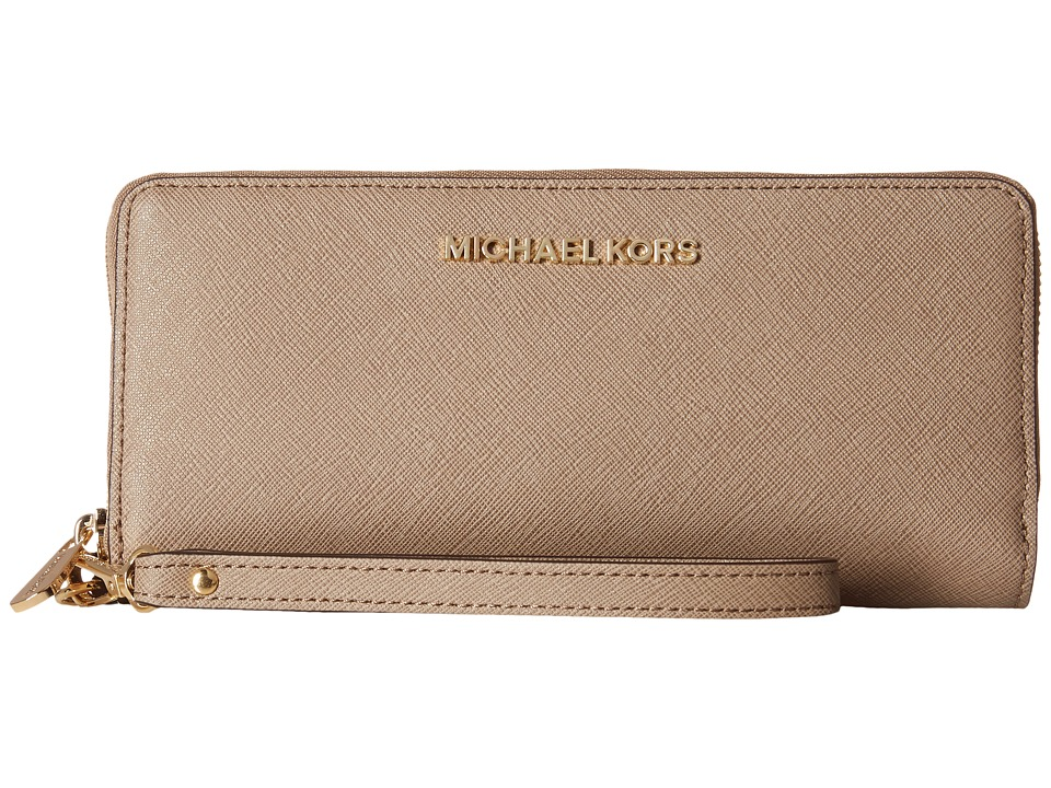 MICHAEL Michael Kors - Jet Set Travel Travel Continental (Dark Dune) Clutch Handbags