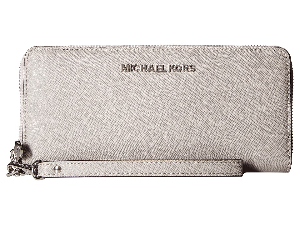MICHAEL Michael Kors Jet Set Travel Travel Continental (Pearl Grey) Clutch Handbags