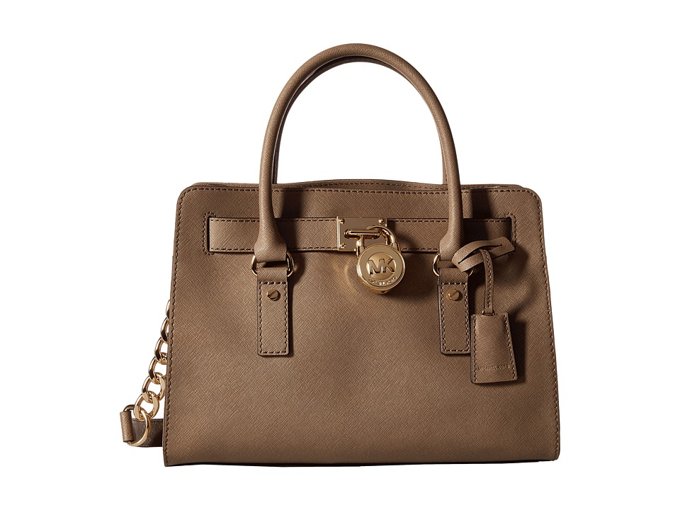 MICHAEL Michael Kors - Hamilton 18K East/West Satchel (Dark Dune) Satchel Handbags