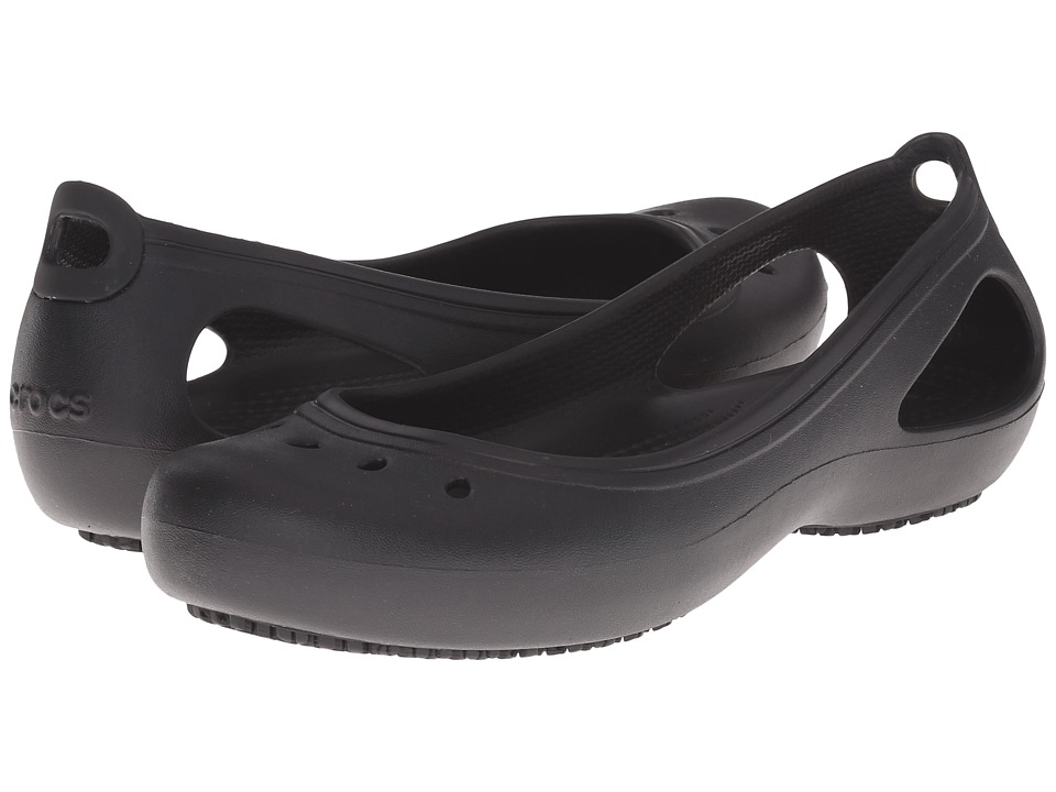 Crocs Kadee Work Flat (Black) Women's Flat Shoes