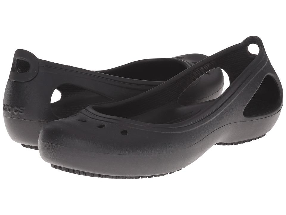 Crocs - Kadee Work Flat (Black) Women's Flat Shoes