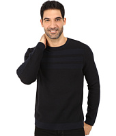 Calvin Klein - Cotton Acrylic Moss and Garter Stitch Crew Neck Sweater