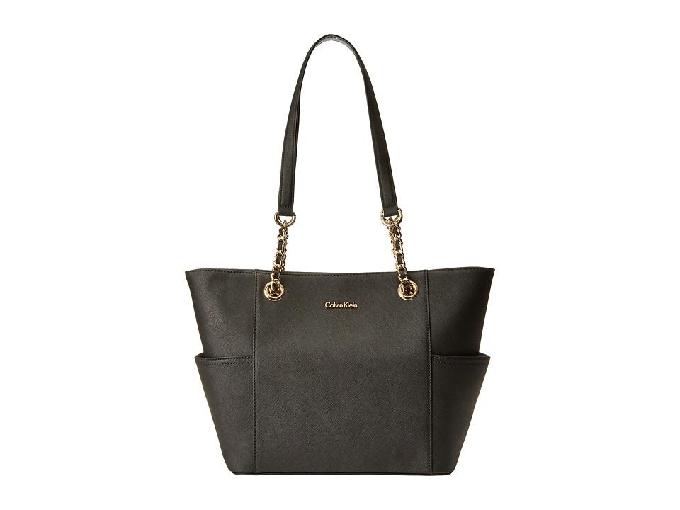 Calvin Klein - Key Items H3DA11HU (Black/Gold) Tote Handbags