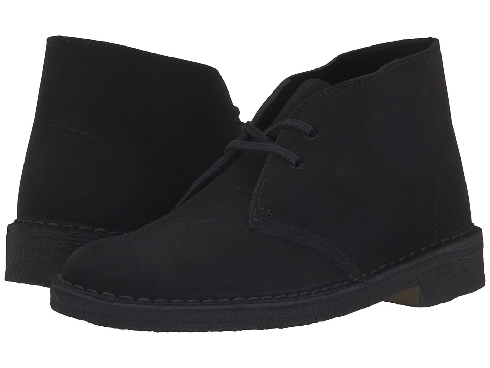 Clarks Desert Boot (Black) Women's Lace-up Boots