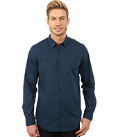Calvin Klein - Cool Tech Chambray Check Plain Weave Woven Shirt