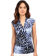 Adrianna Papell - Print Cap Sleeve Wrap Top