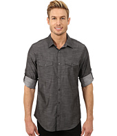 Calvin Klein - Slub Twill Double Pocket Roll-Sleeve Woven Shirt