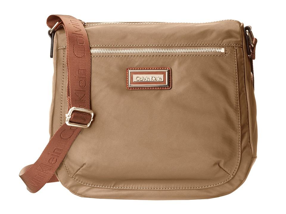 Calvin Klein - Key Item Nylon Messenger H3JFE1CW (Light Khaki) Cross Body Handbags