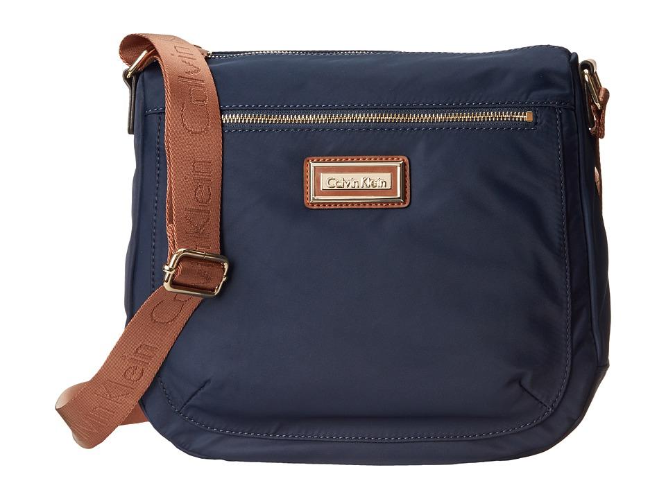 Calvin Klein - Key Item Nylon Messenger H3JFE1CW (Navy) Cross Body Handbags