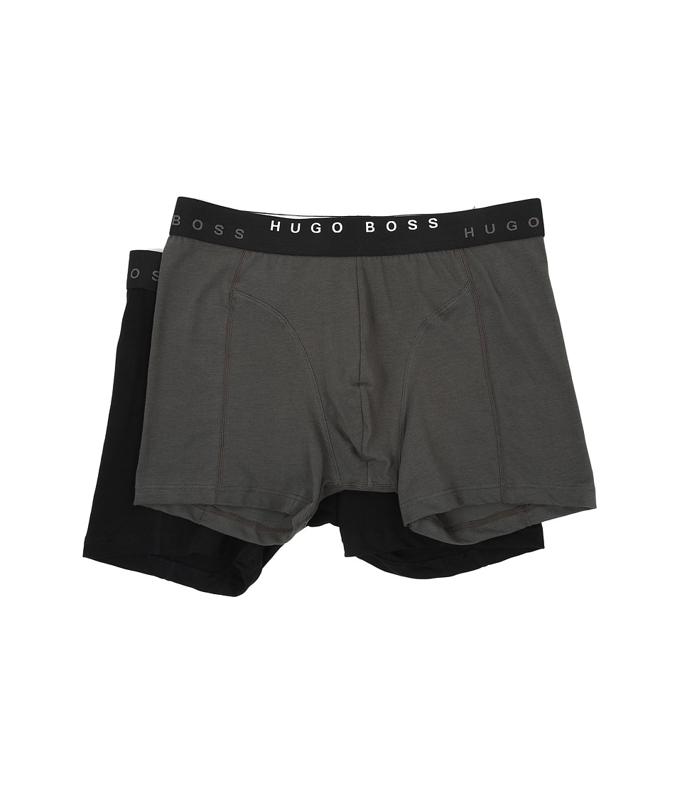 BOSS Hugo Boss Cyclist Solid 2 Pack Dark Green/Black Mens Underwear