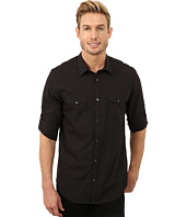 Calvin Klein - End on End Check Poplin Roll-Sleeve Woven Shirt