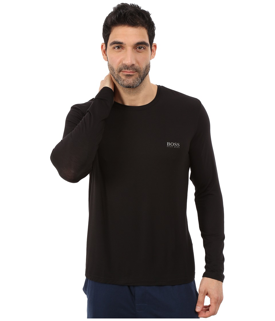 BOSS Hugo Boss - Long Sleeve Crew Modal (Black) Men