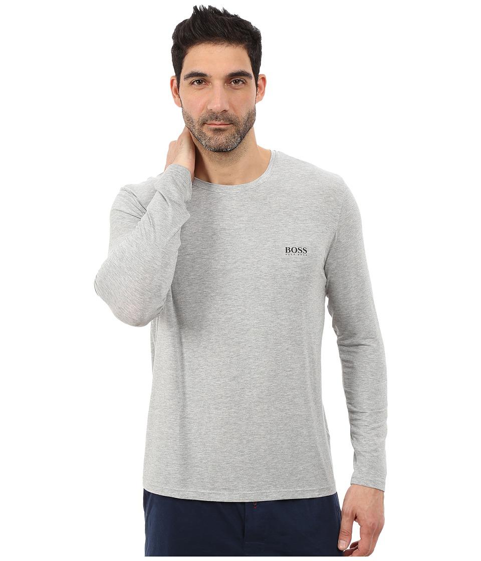 BOSS Hugo Boss Long Sleeve Crew Modal Medium Grey Mens T Shirt