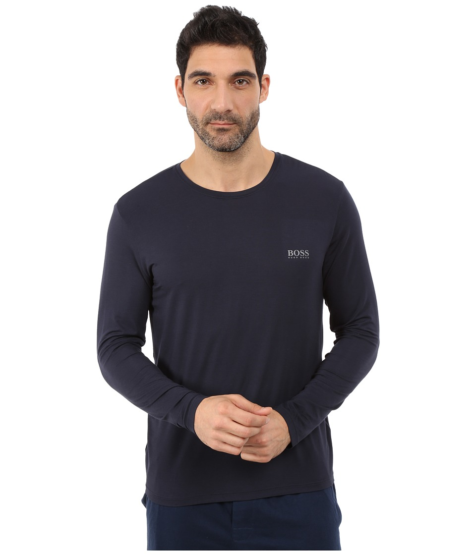 hugo boss long sleeve crew neck. Black Bedroom Furniture Sets. Home Design Ideas