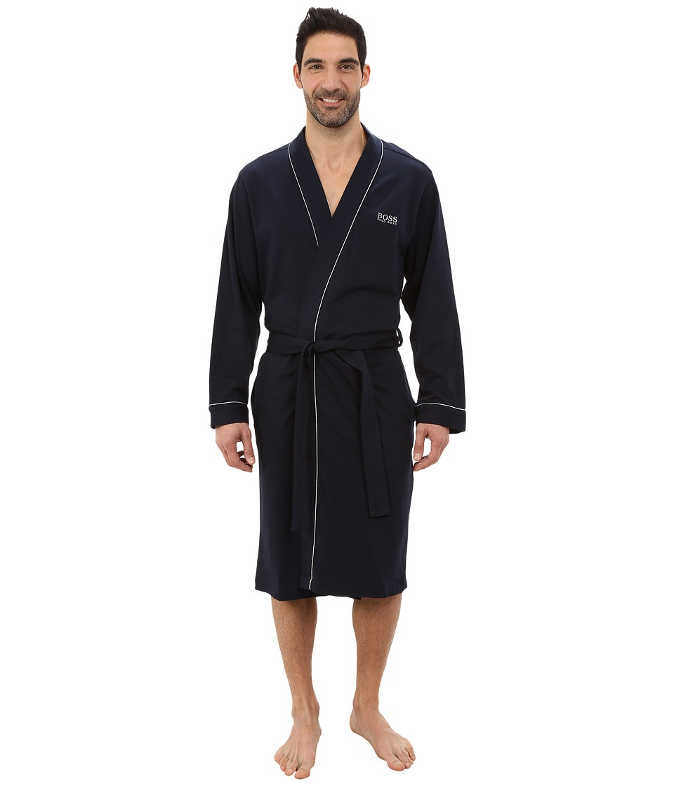 Hugo Boss Innovation 1 Cotton Kimono Robe (Navy) Men's Robe