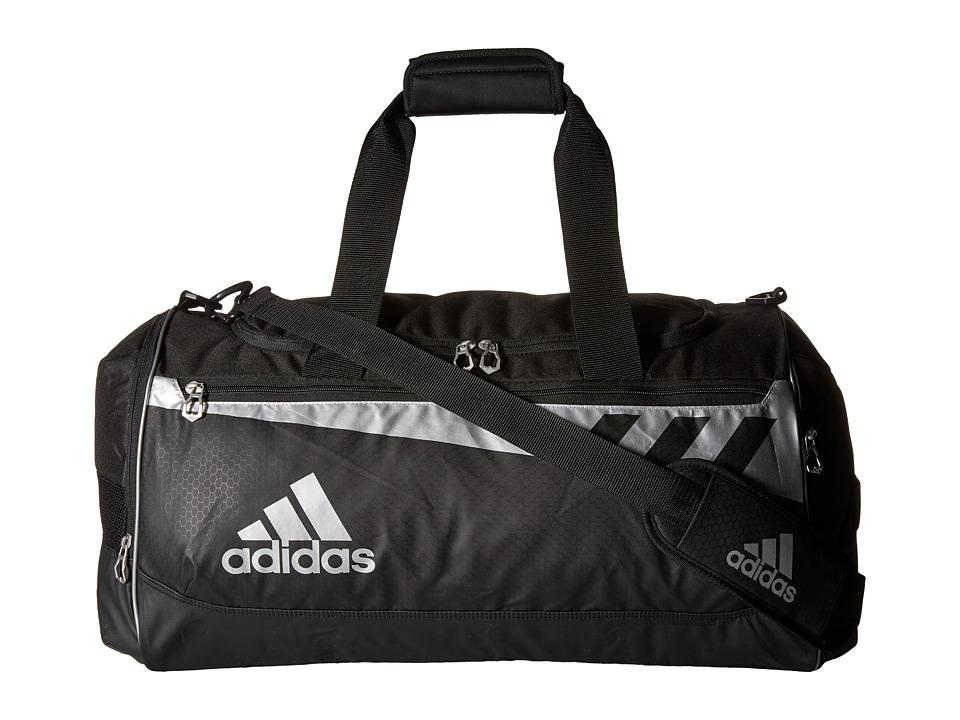 adidas Team Issue Medium Duffel Black/Silver Duffel Bags