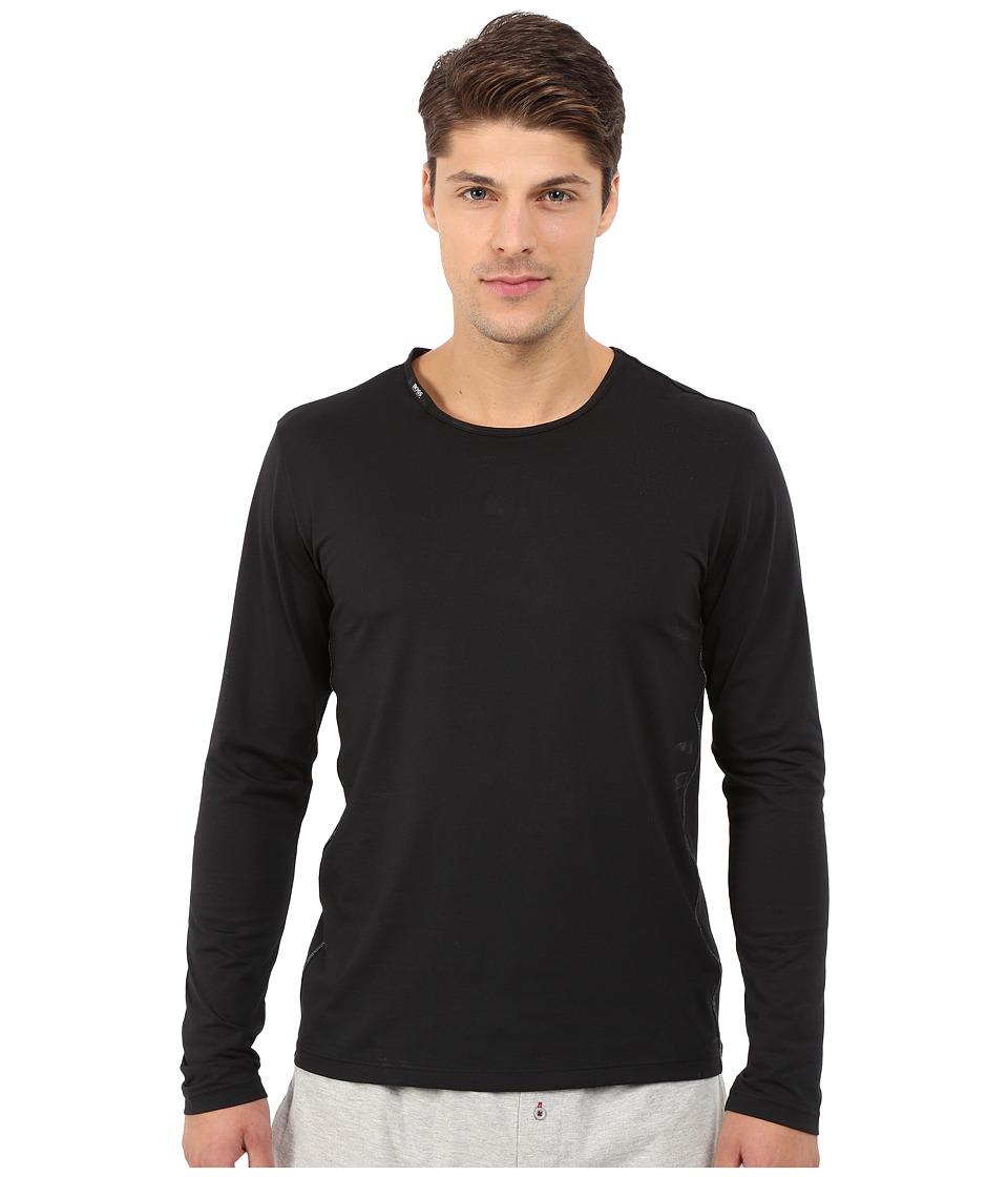 BOSS Hugo Boss Long Sleeve Cool Max Black Mens Pajama