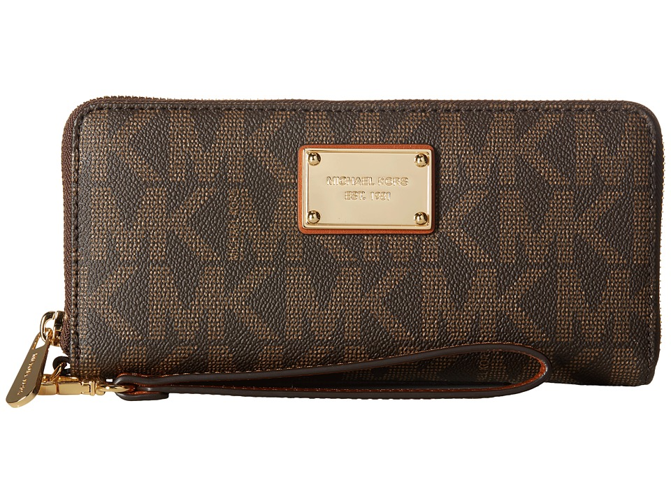 MICHAEL Michael Kors - Jet Set Item Travel Continental (Brown) Continental Wallet