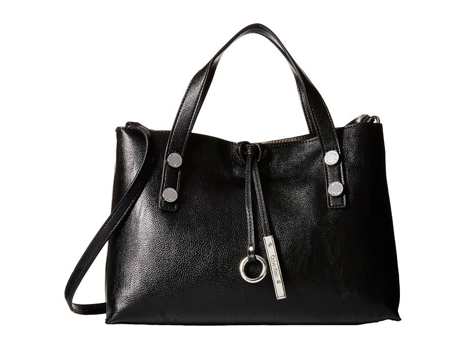 Calvin Klein - Reversible Novelty Crossbody (Black/Grey) Satchel Handbags