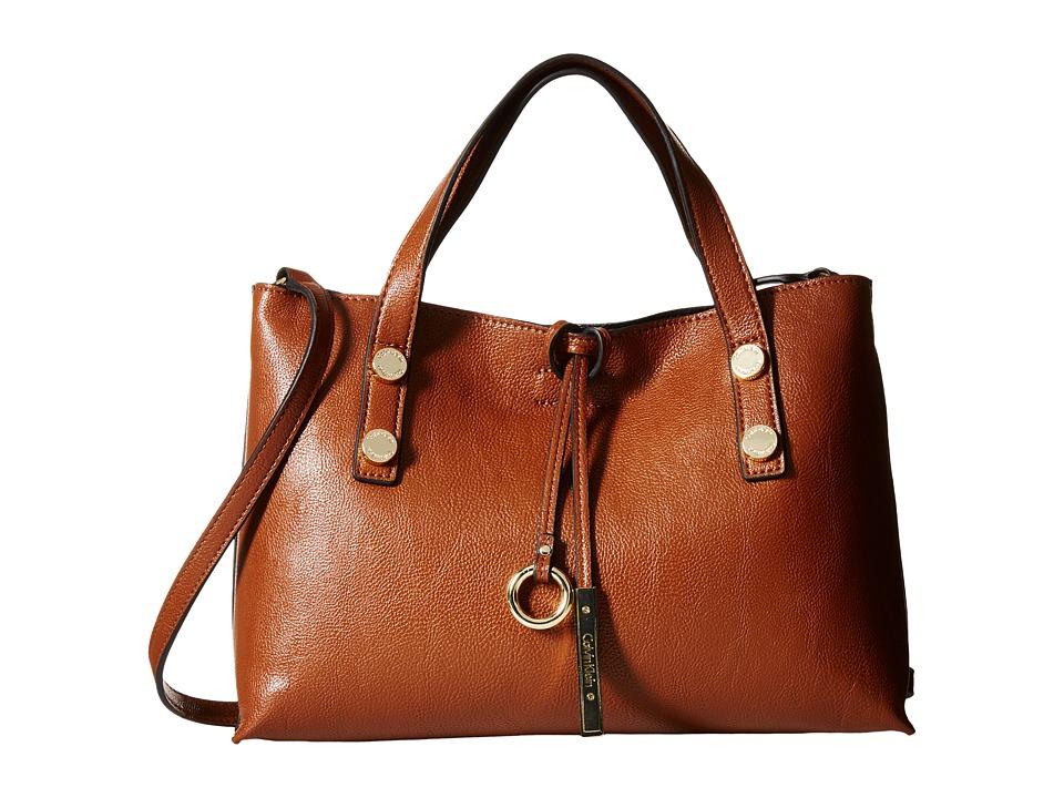Calvin Klein - Reversible Novelty Crossbody (Luggage/Black) Satchel Handbags