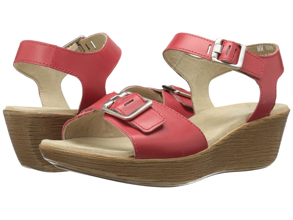 Munro American Marci Red Leather Womens Sandals