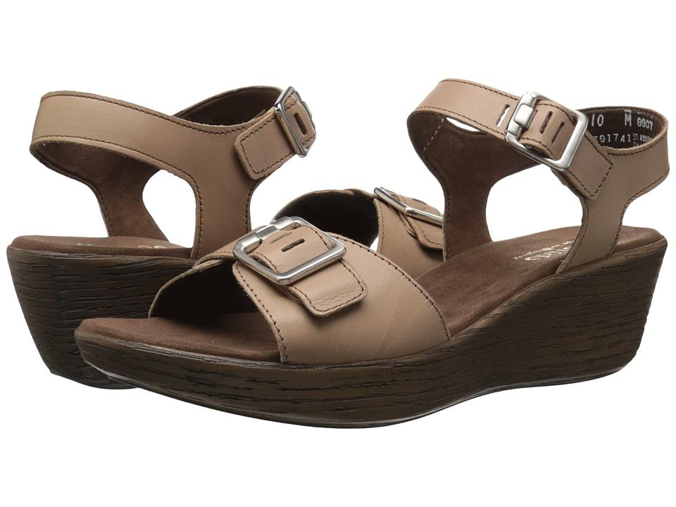 Munro American Marci Mocha Leather Womens Sandals