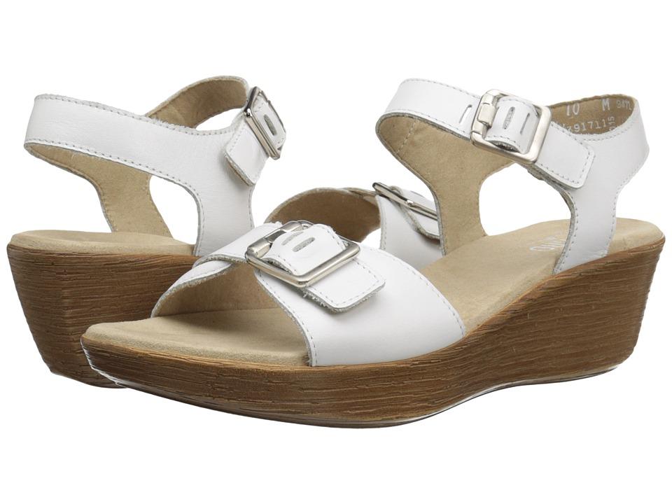 Munro American Marci White Leather Womens Sandals