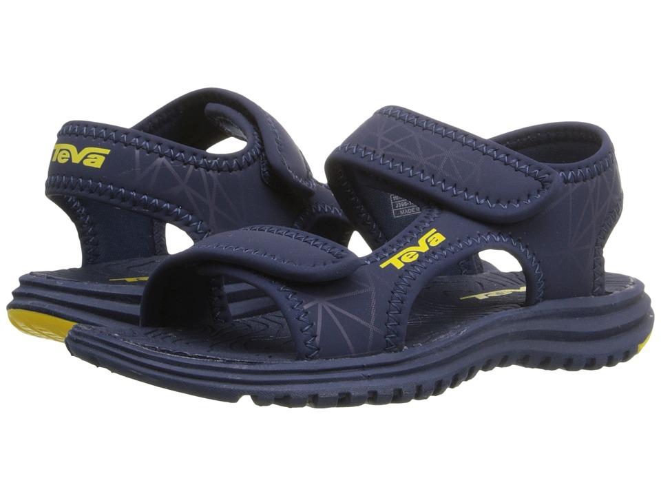 Teva Kids Tidepool (Toddler) (Navy/Yellow Print) Boys Shoes