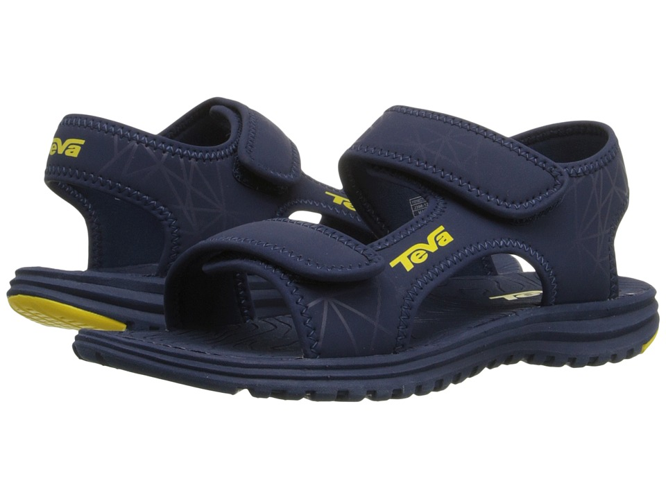 Teva Kids Tidepool Little Kid/Big Kid Navy/Yellow Print Boys Shoes