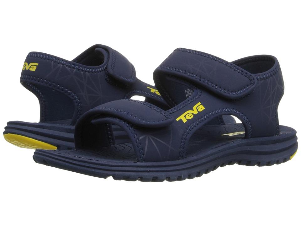Teva Kids Tidepool (Little Kid/Big Kid) (Navy/Yellow Print) Boys Shoes
