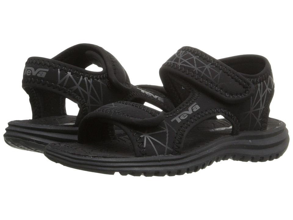 Teva Kids Tidepool Toddler Black/Grey Print Boys Shoes