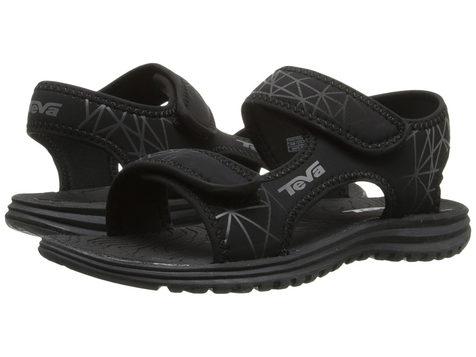 Teva Kids Tidepool Little Kid/Big Kid Black/Grey Print Boys Shoes