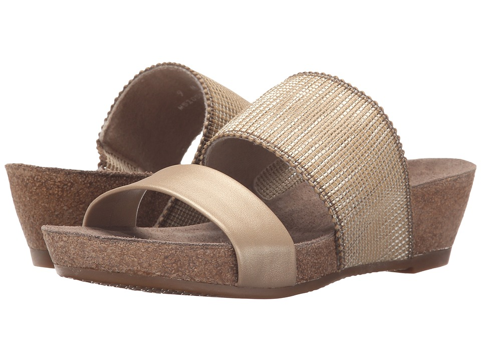 Munro American Riviera Gold Shimmer Womens Sandals