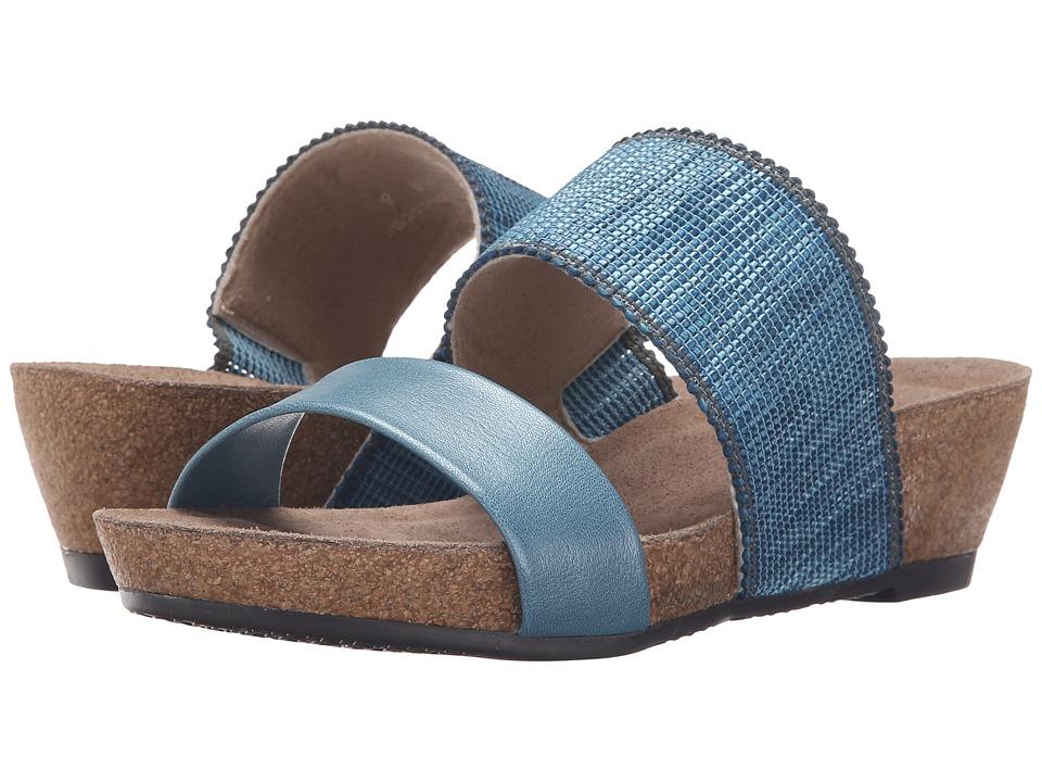 Munro American Riviera Blue Shimmer Womens Sandals