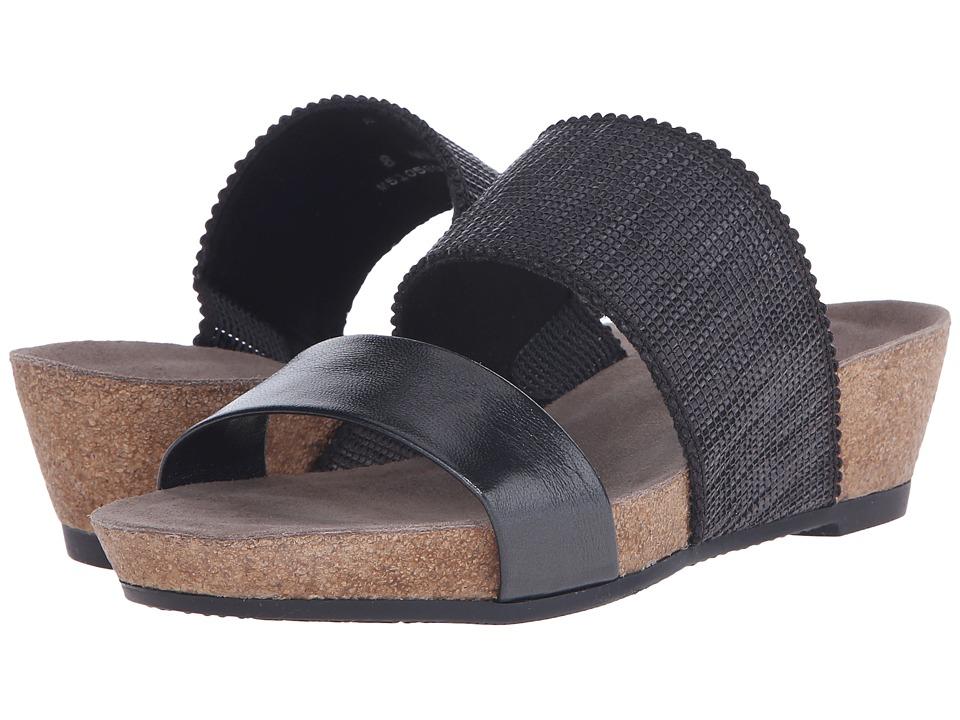 Munro American Riviera Black Shimmer Womens Sandals