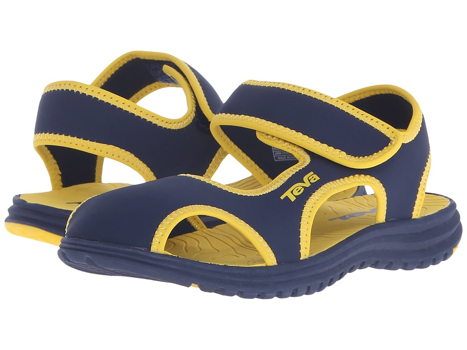 Teva Kids Tidepool CT Little Kid Navy/Yellow Boys Shoes
