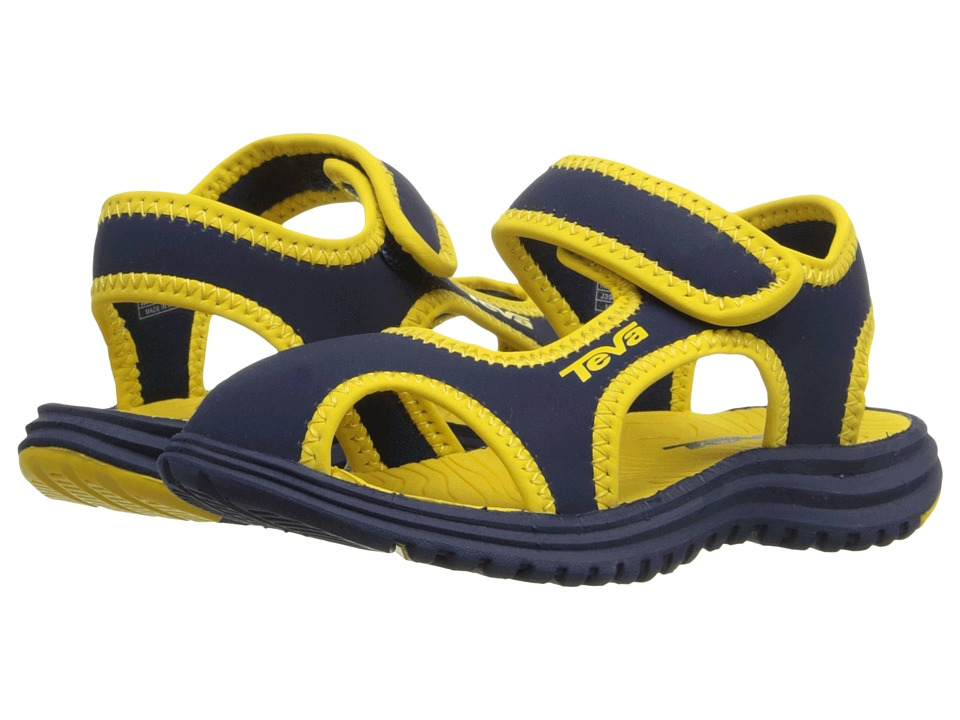 Teva Kids Tidepool CT Toddler Navy/Yellow Boys Shoes