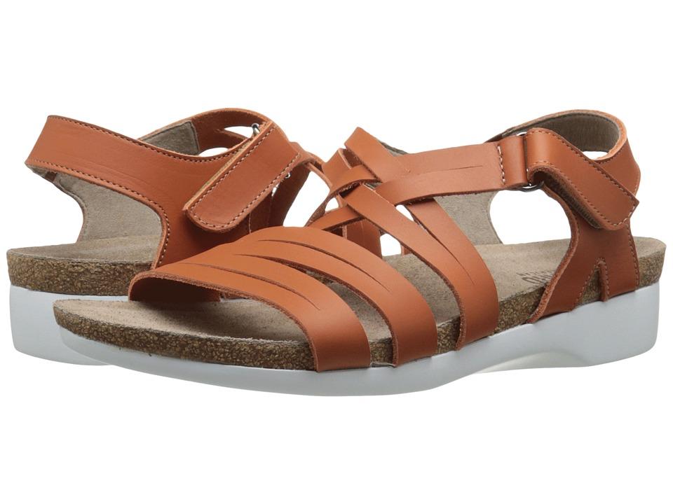 Munro American Kaya Orange Leather Womens Sandals