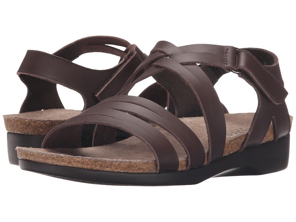 Munro American Kaya Brown Leather Womens Sandals